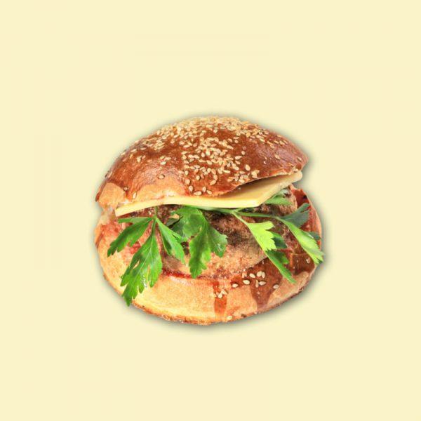 """Бутерброд """"Гамбургер"""" (котлета, сыр) 1/160"""